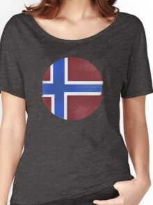 Norway ball flag Women's Relaxed Fit T-Shirt