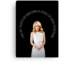 Gillian Anderson Quote Canvas Print