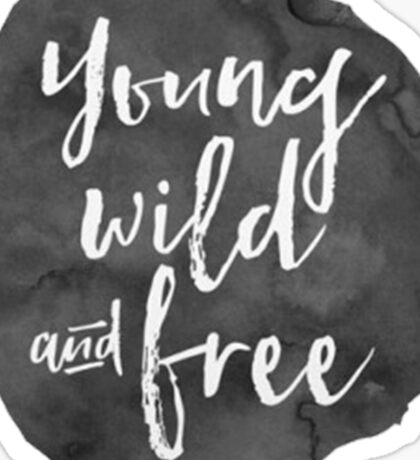 Young Wild and Free Sticker