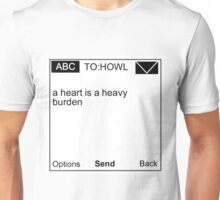 "howl's movie castle sophie,""a heart is a heavy burden."" Unisex T-Shirt"