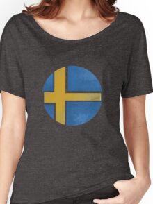 Sweden ball flag Women's Relaxed Fit T-Shirt