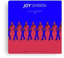 Joy Division Live in Amsterdam Canvas Print
