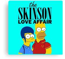 Skinson Love Affair Canvas Print