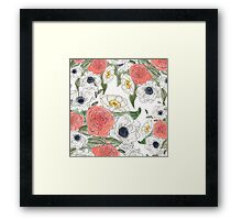 Pen and ink flowers Framed Print