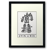 Join or Die Transformers Framed Print