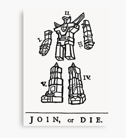 Join or Die Transformers Canvas Print
