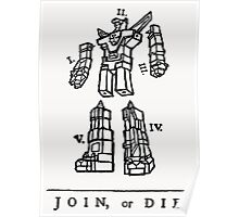 Join or Die Transformers Poster