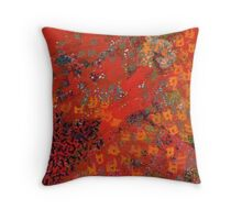 Red Pattern by Stephanie Burns Throw Pillow