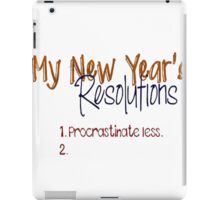 New Year Iron on Shirt PDF - Resolution Iron on Transfer / Womens Shirt Design / New Years Tshirt / Digital Graphics / Kids Clothing IT152-P iPad Case/Skin