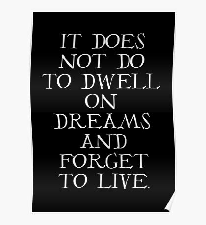 Dumbledore Quote Poster