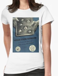 Vintage poster - Navy accidents Womens Fitted T-Shirt
