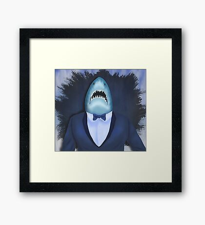 Shark Tux Framed Print