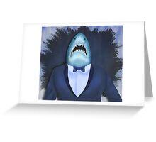 Shark Tux Greeting Card