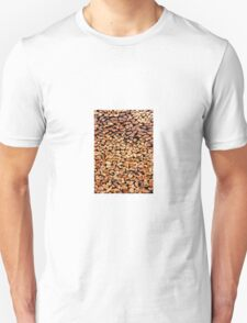 Large stack of fire wood cut to small lengths  Unisex T-Shirt
