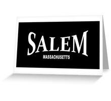 Salem Massachusetts - white Greeting Card