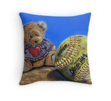 Gentle and Tough Throw Pillow