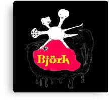 BJORK - BLACK ALBUM COVER Canvas Print