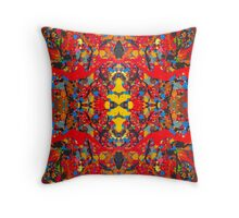 Richly Red by Stephanie Burns Throw Pillow