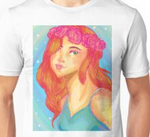Flower crown girl Unisex T-Shirt