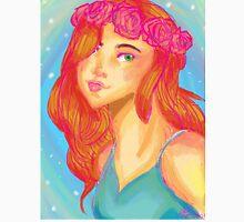 Flower crown girl Unisex T-Shirt