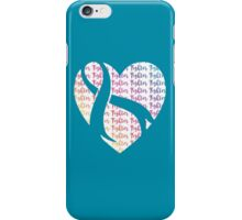 Turquoise Fighter Heart iPhone Case/Skin