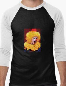 Head shot of yellow haired Clown smiling Men's Baseball ¾ T-Shirt