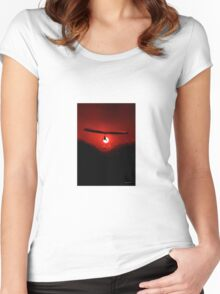 Hang Gliding at last light Women's Fitted Scoop T-Shirt