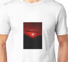 Hang Gliding at last light Unisex T-Shirt