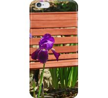 Bench and Iris  iPhone Case/Skin