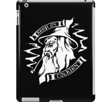 lotr keep on tolken black iPad Case/Skin