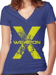 Weapon X •Wolverine Women's Fitted V-Neck T-Shirt