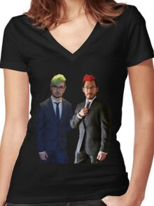 Septiplier wedding Women's Fitted V-Neck T-Shirt