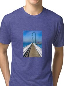 Public pier at holliday resort Tri-blend T-Shirt