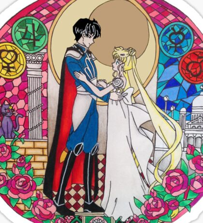 Sailor Moon Serenity and Endymion  Sticker