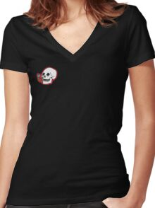 Skulley Women's Fitted V-Neck T-Shirt