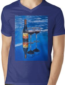 Bottle of Wine by Lena Owens Mens V-Neck T-Shirt