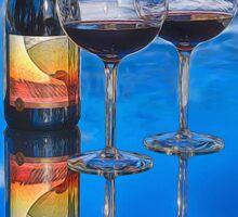 Bottle of Wine by Lena Owens Sticker