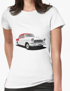 Holden FC Special Sedan - Flame Red over India Ivory Womens Fitted T-Shirt
