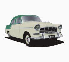 Holden FC Special Sedan - Olinda Green over Adobe Beige Baby Tee
