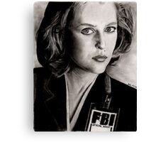 Dana Scully (Charcoal) Canvas Print