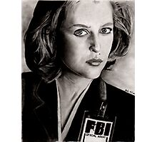 Dana Scully (Charcoal) Photographic Print