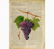 Botanical print, on old book page - Grapes Unisex T-Shirt