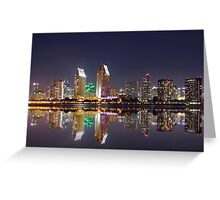 San Diego- Downtown view Greeting Card
