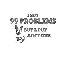 I Got 99 Problems But A Pup Ain't One Photographic Print