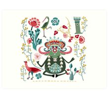 Bull Kharma Art Print
