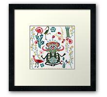 Bull Kharma Framed Print