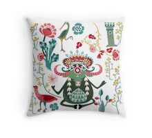 Bull Kharma Throw Pillow