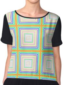 squares for days Chiffon Top