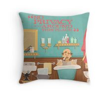 """Carousel of Progress - Uncle Orville - """"No Privacy!"""" Throw Pillow"""