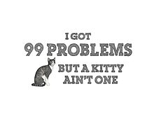 I Got 99 Problems But A Kitty Ain't One Photographic Print